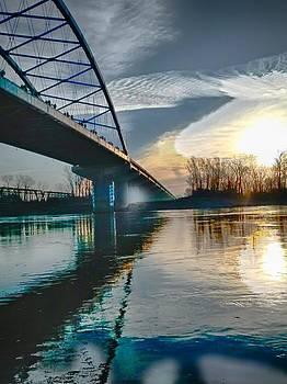 Amelia Earhart bridge sunrise by Dustin Soph