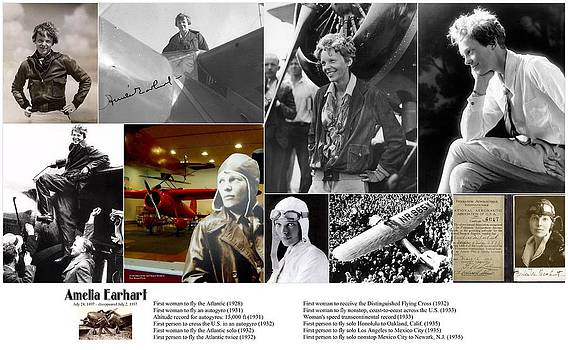 Amelia Earhart by Don Struke