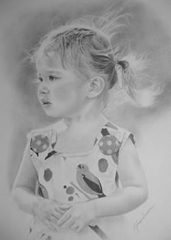 Amelia - Wind Blown by Melanie Spencer