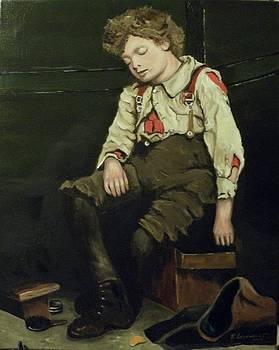 American Depression era shoeshine boy 1 by Robert Arsenault
