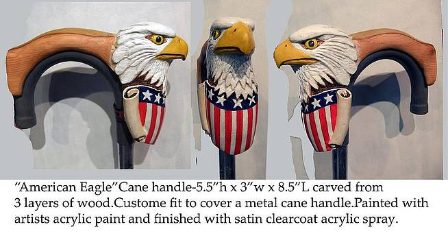 American Eagle cane cover by Reuven Gayle