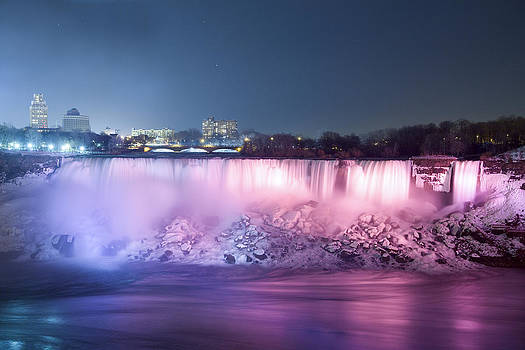 American Falls at Night by Gerald Murray Photography