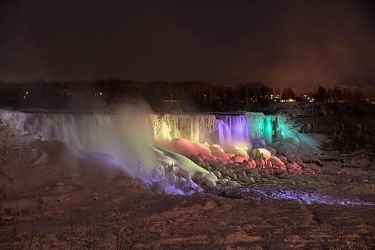 American Falls at Night by Jim Koniar