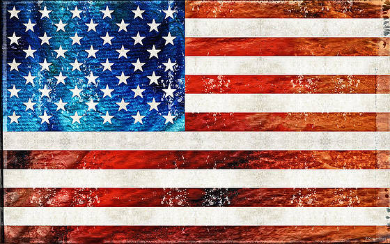 Sharon Cummings - American Flag Art - Old Glory - By Sharon Cummings
