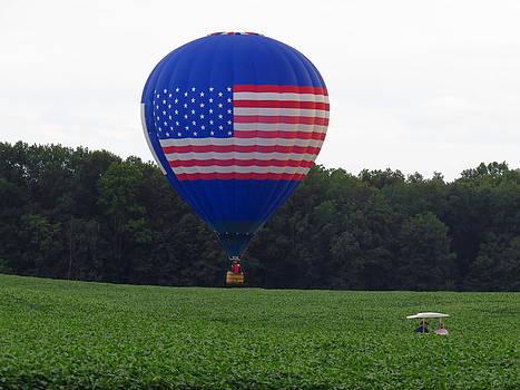 American Flag Balloon by David Lankton