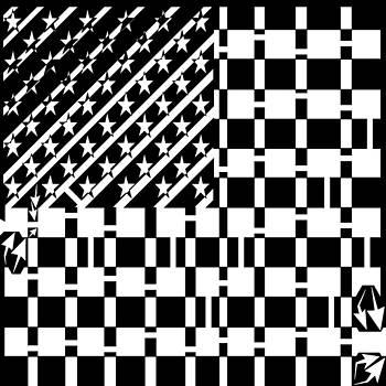 American Flag Maze  by Yonatan Frimer Maze Artist