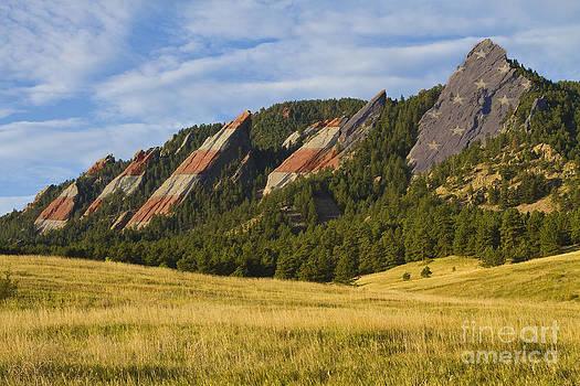 James BO  Insogna - American Flatiron Morning Light Boulder Colorado