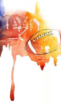 American Football by Mahsa Watercolor Artist