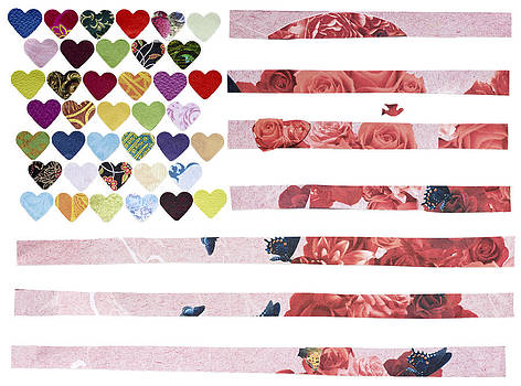 American Heart Flag by Doveen Schecter