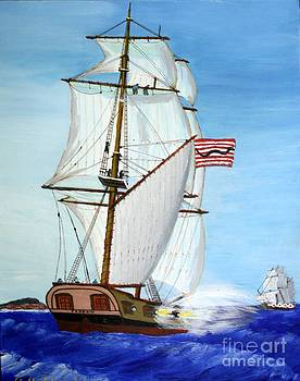 American Privateer Phoenix War of 1812 by Bill Hubbard