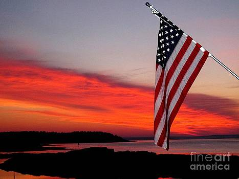 American sunrise by Donnie Freeman