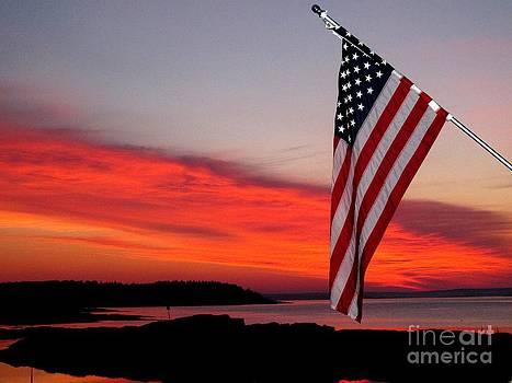 American sunrise by Donnie Freeman