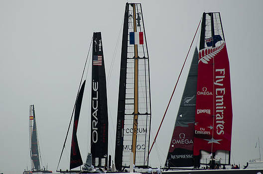 America's Cup race by Georgina Noronha