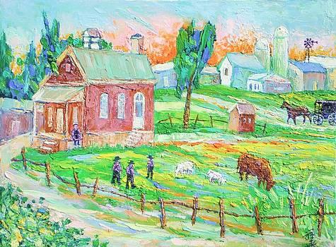 Amish School Landscape by Siang Hua Wang