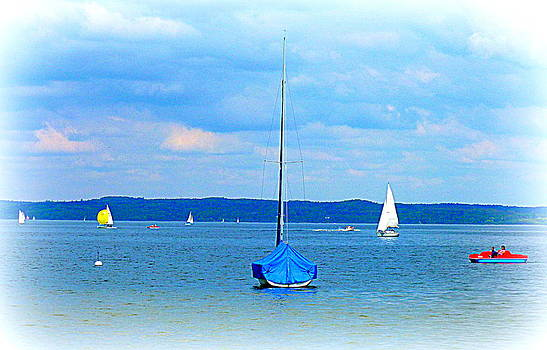 Ammersee Boats by The Creative Minds Art and Photography