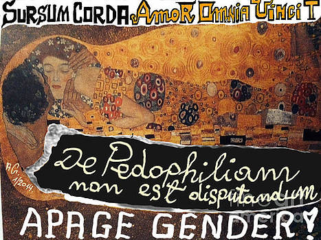 Amor Omnia Vincit - De Pedofiliam non est disputandum - Tribute to Gustav Klimt - Happening. by  Andrzej Goszcz
