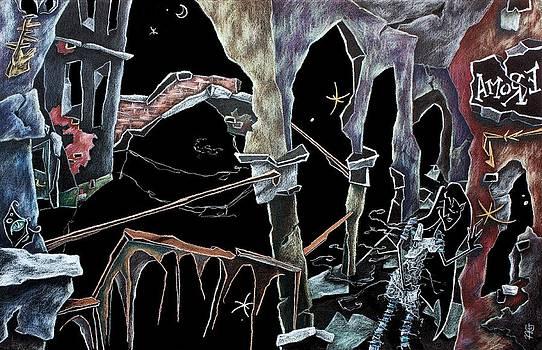 Arte Venezia - AmoRe - Dark Fantasy Drawings and Illustration - Dibujo Surrealista