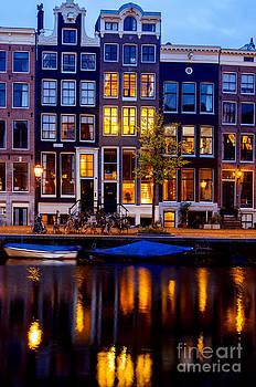 Amsterdam at night III by Lilianna Sokolowska