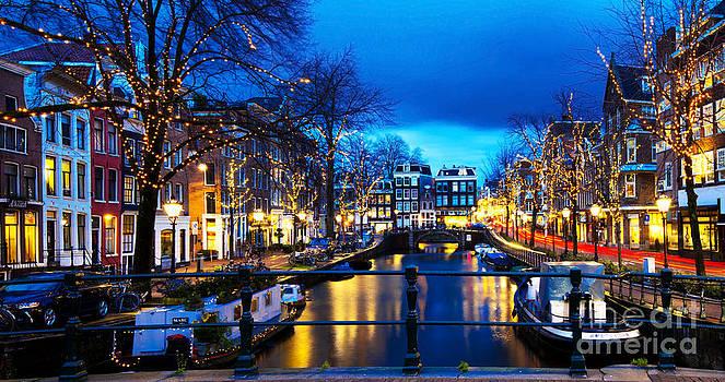 Amsterdam at night V by Lilianna Sokolowska