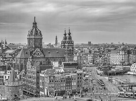 Patricia Hofmeester - Amsterdam view with St.Nicolaaschurch