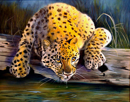 Amur Leopard  Spotted Something by Pamela Bergen