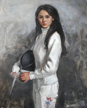 Chris  Saper - An American Fencer Portrait of Lee Kiefer 2012 US Olympic Women