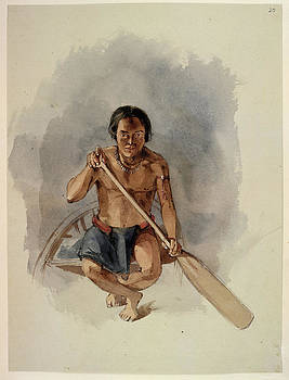 An Amerindian In A Canoe by British Library