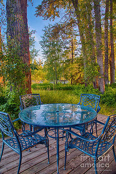 Omaste Witkowski - An Early Morning On The Deck At Cottonwood Cottage
