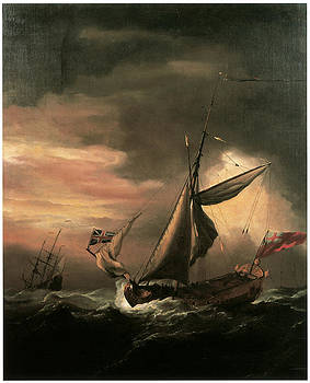 Willem van de Velde the Younger - An English Royal Yacht and Others Shipping in Heavy Seas