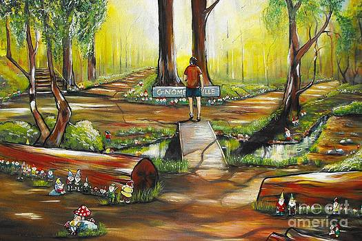 An evening walk through Gnomesville by Soma Mandal Datta