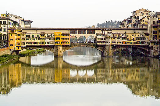 An Icon of Florence -Ponte Veccio by Michael Flood