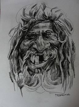 An old man by Prashant Srivastava