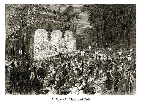 London Illustrated News - An Open-Air Theatre At Paris
