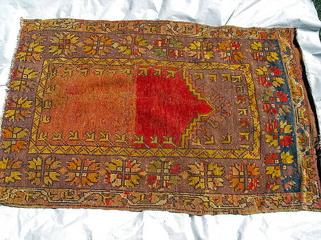 Anatolian prayer rug wool carpet by Anonymous artist
