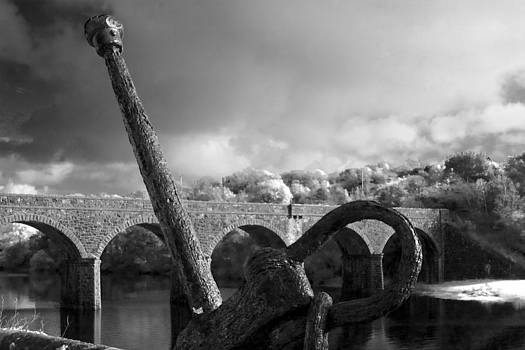 Anchor  And Viaduct Newport Co. Mayo by Tony Reddington