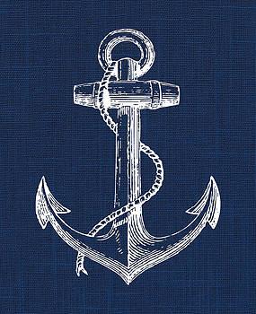 Anchor Nautical Print by Jaime Friedman