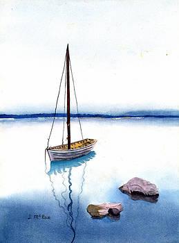 Anchored Sail by June McRae