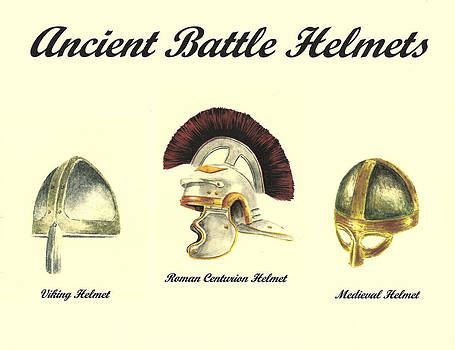 Ancient Battle Helmets by Michael Vigliotti