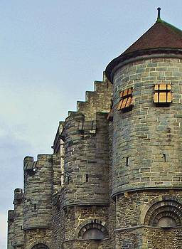 Ancient Castle in Belgium by Lois Bailey