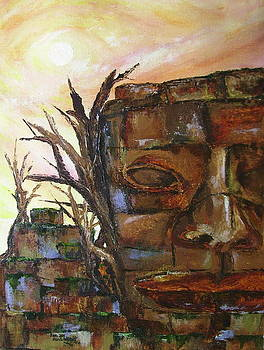 Ancient Idol in Ruins  by Jan Wendt