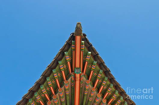 Ancient korean style end roof decorative ornament by Vorakorn Kanokpipat