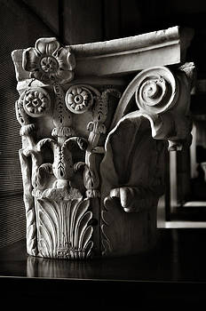 Angela Bonilla - Ancient Roman Column in Black and White