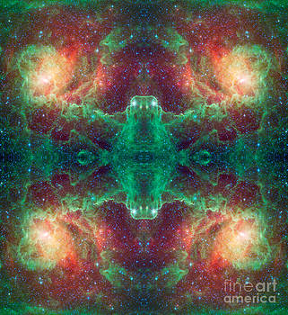 Ancient Scroll Abstract Space Art by Animated Sentiments