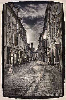 Ancient street Prague by Valerii Tkachenko