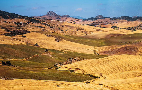 Jenny Rainbow - Andalusian Patchwork Fields I. Spain