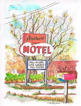 Andruss Motel in Route 66 - Walker -California by Carlos G Groppa