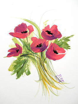 Anemone Flowers by Dorothy Maier