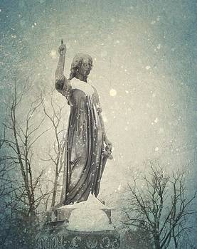 Gothicrow Images - Snowy Gothic Stone Angel