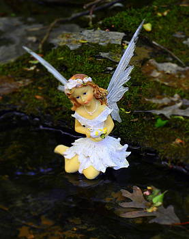 Angel in the Creek 2 Woodland Fairies by Linda Rae Cuthbertson