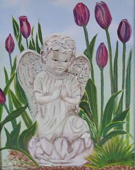 Angel in the Garden by Sharon Schultz